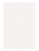 1/5 diamonds grid paper