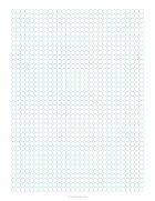 1/4 circles grid paper