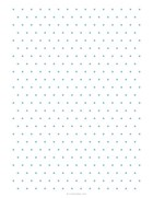 Equilateral triangle dotted grid