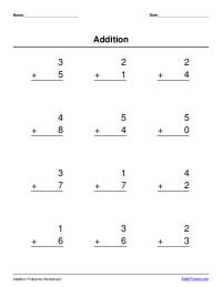 basic addition worksheet maker